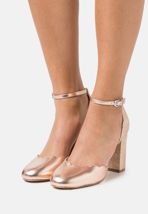 WHISPER - High heels - rose gold metallic