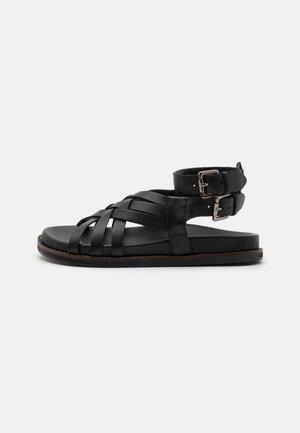 SAMARA - Sandaalit nilkkaremmillä - black