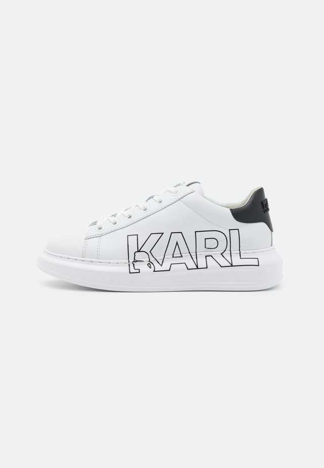 KAPRI OUTLINE LOGO - Sneakers laag - white