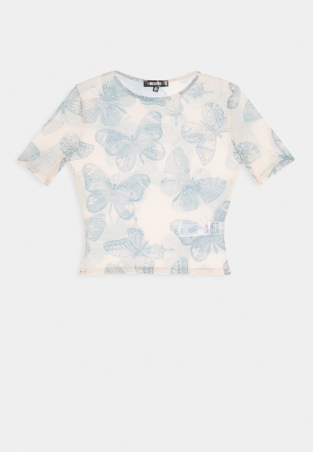 BUTTERFLY TOP - T-shirt med print - nude