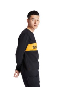 Timberland - CUT AND SEW CREW - Sweatshirt - black-dark cheddar - 3