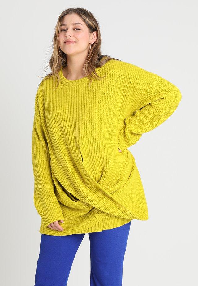 LADIES WRAPPED - Svetr - lemon mustard