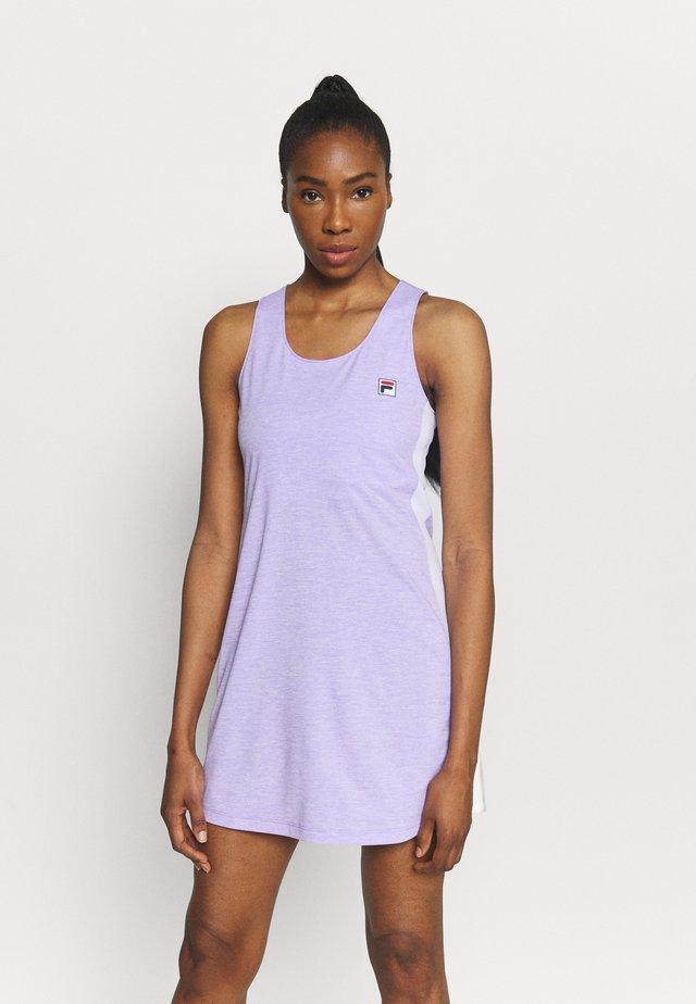 DRESS YUMI - Žerzejové šaty - purple melange