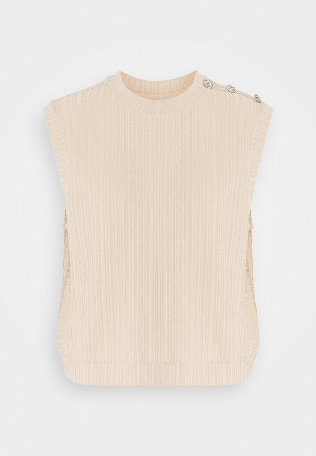 PCLILLIE VEST - Top - warm sand