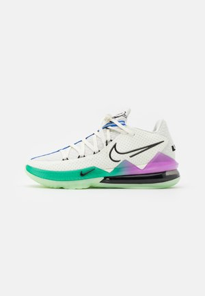 LEBRON XVII LOW - Basketball shoes - spruce aura/black/racer blue/sail/vapor green/hyper violet
