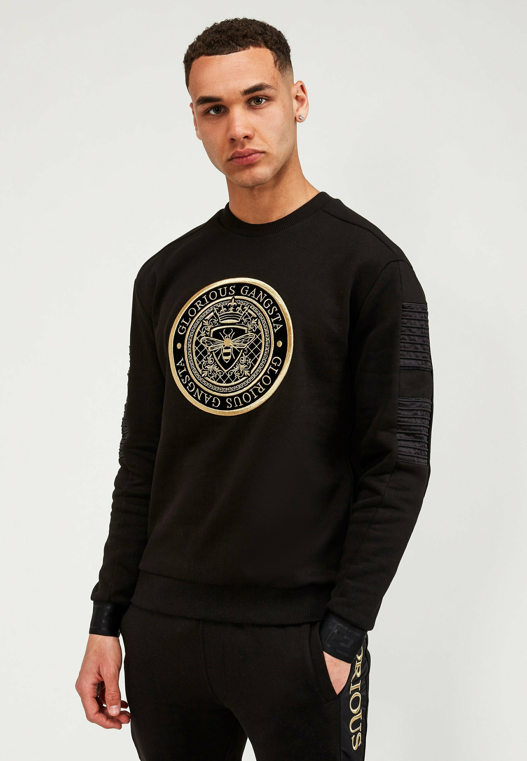 Glorious Gangsta Men/'s Yambio Sweater Black Gold