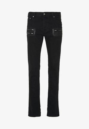 PANTS POCKETS BIKER - Jeans slim fit - black