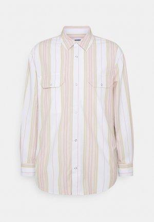JUD STRIPED - Shirt - white/blue/beige