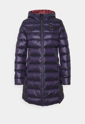 BASIC HOODED LIGHT JACKET LONG  - Down coat - navy