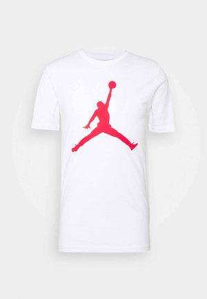 JUMPMAN CREW - Camiseta estampada - white/gym red