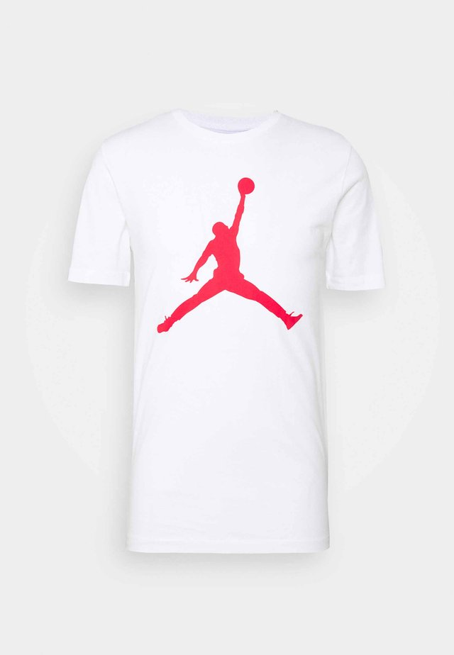 JUMPMAN CREW - Print T-shirt - white/gym red