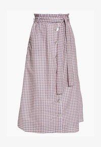 OBJLYNNE SKIRT - A-line skirt - dazzling blue/brown /gardenia
