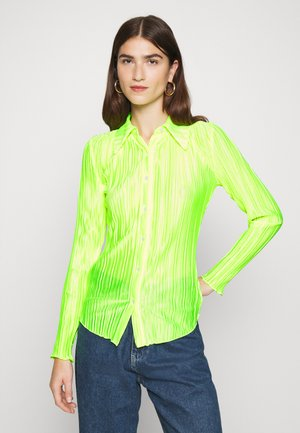 PLISSE - Button-down blouse - acid green