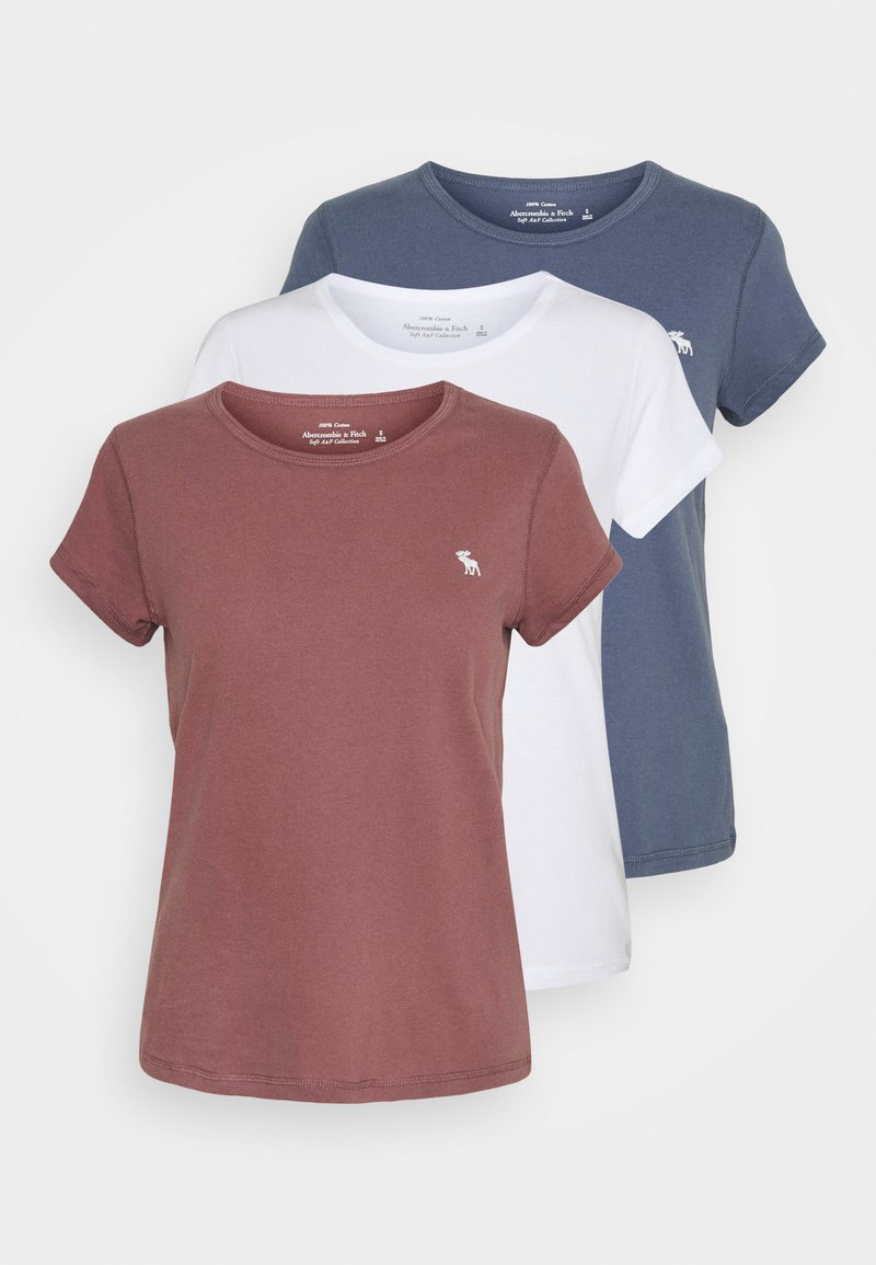 Abercrombie & Fitch - SEASONAL 3 PACK - T-shirt basic - navy/white/red