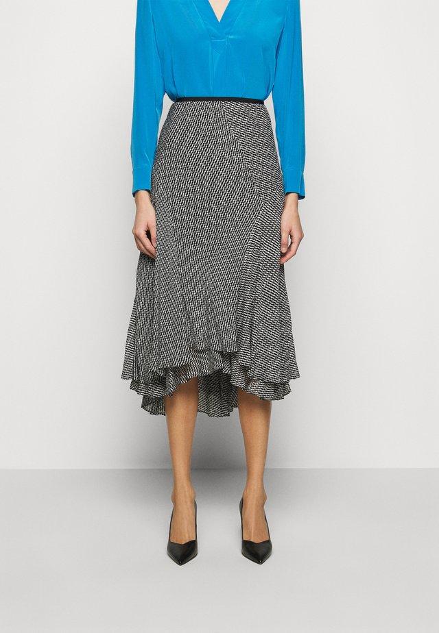DEBRA - Áčková sukně - clockwork black