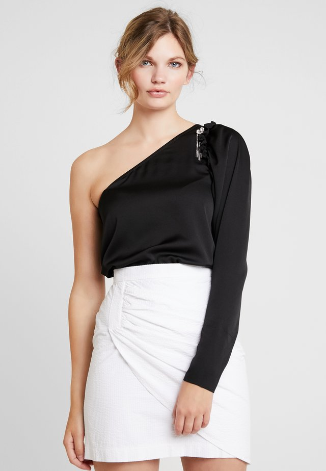 LOLLY BLOUSE - Blusa - black