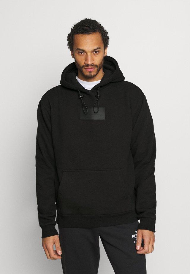 SMALL SIGNATURE BOX HOODIE UNISEX  - Sweatshirt - black