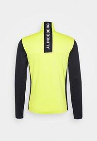J.LINDEBERG - BANKS MID LAYER - Fleece jacket - leaf yellow - 1