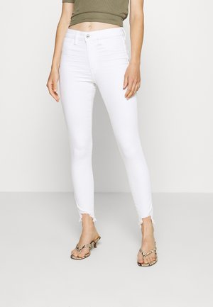 SUPER RISE JEGGING CROP - Džegíny - bright white