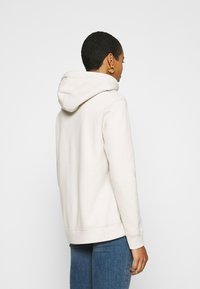 Abercrombie & Fitch - GEL LOGO SNAP POPOVER - Hoodie - cream - 2