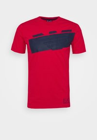 EA7 Emporio Armani - Print T-shirt - racing red - 4