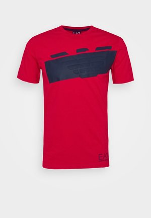 Print T-shirt - racing red