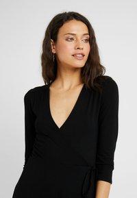 Dorothy Perkins Tall - WRAP DRESS - Jersey dress - black - 3