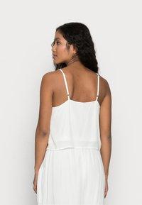 YAS Petite - YASCHELLA SINGLET PETITE - Top - star white/embroidery - 2