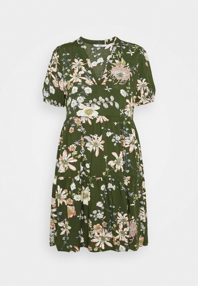 ONLNOVA LIFE THEA DRESS PETITE - Day dress - ponderosa pine/blossom green