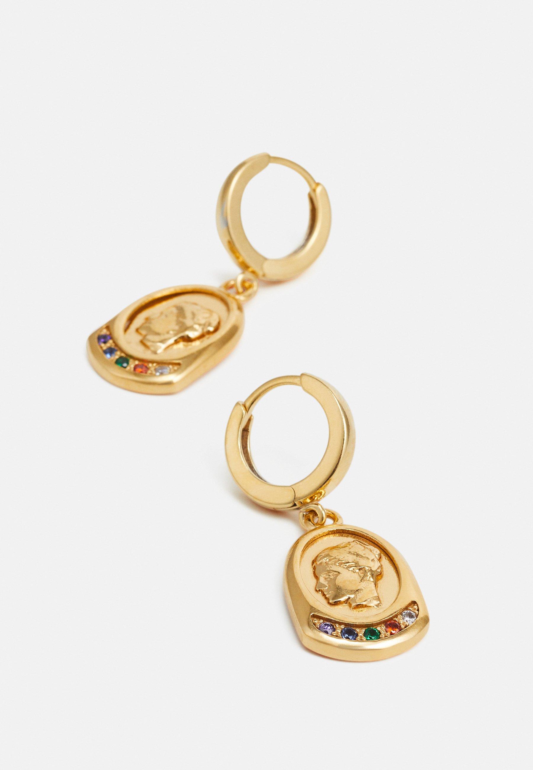 Hermina Athens Ygieia Slip On Earrings - Ohrringe Gold-coloured/multi/gold
