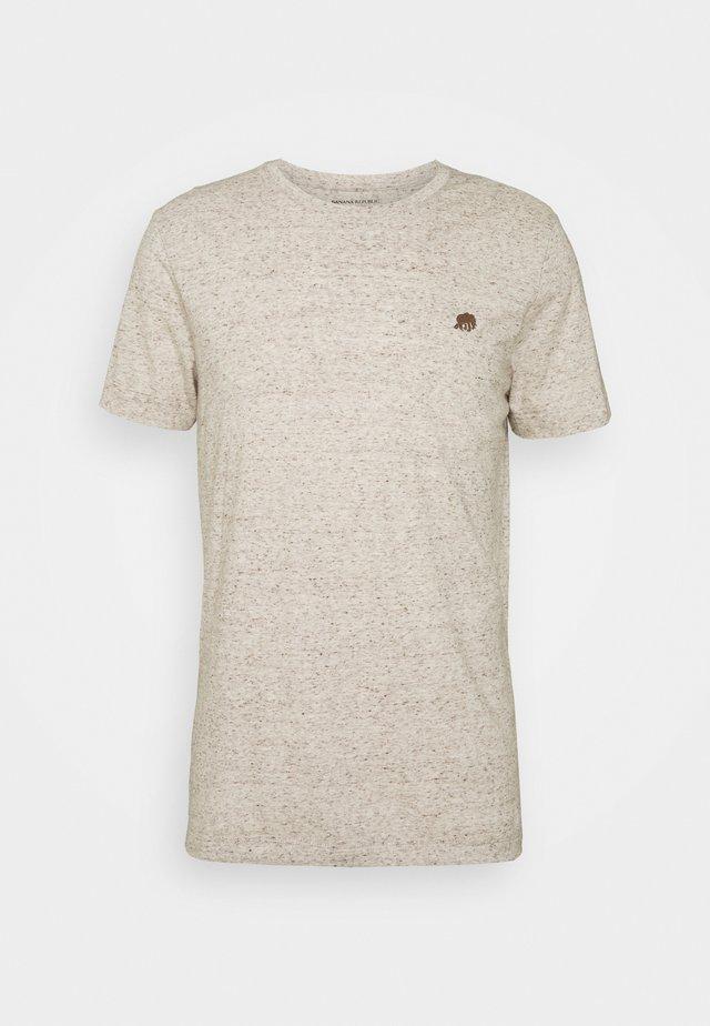 LOGO SOFTWASH TEE - T-shirt basic - oatmeal