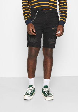 DROGO - Denim shorts - charcoal