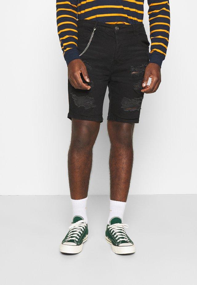 DROGO - Shorts di jeans - charcoal
