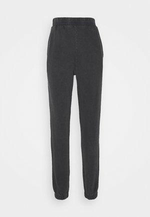 WASHED OUT PANTS - Teplákové kalhoty - offblack