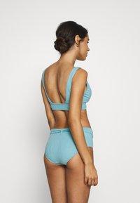 Seafolly - PALMCOASTWIDE SIDE RETRO - Bikini bottoms - nileblue - 2