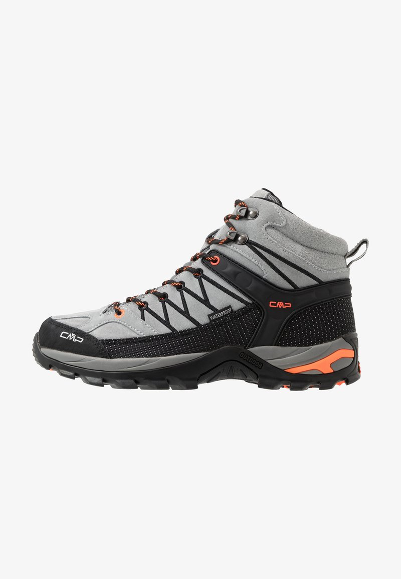 CMP - RIGEL MID TREKKING SHOES WP - Hiking shoes - cemento/nero