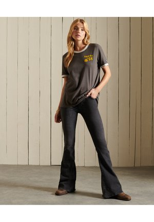CORE LOGO AMERICAN CLASSICS RINGER - Print T-shirt - vintage black