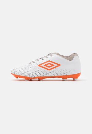 VELOCITA V CLUB FG - Moulded stud football boots - white/carrot/frost gray