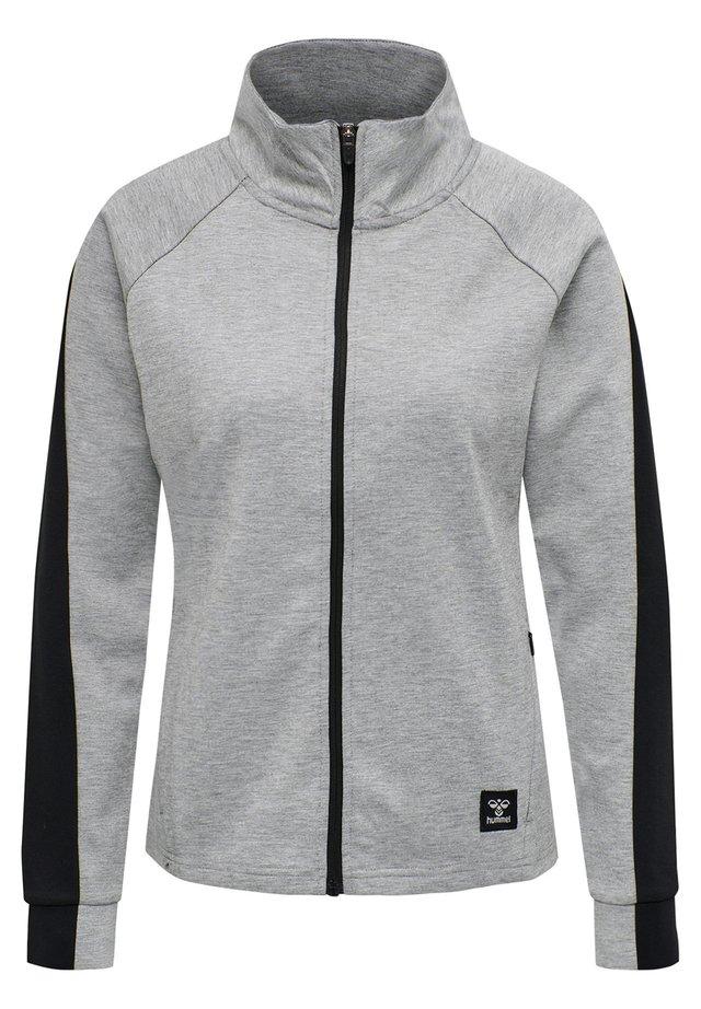 HMLESSI - Zip-up hoodie - grey melange