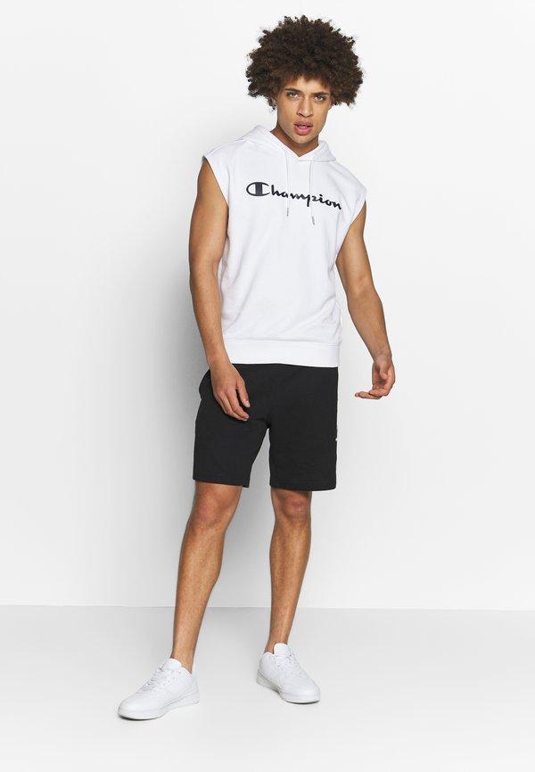 Champion HOODED SHORT SLEEVES - Bluza z kapturem - white/biały Odzież Męska UDZU