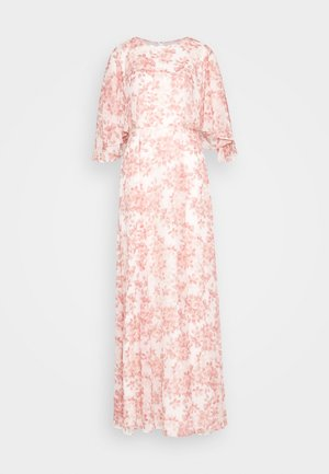 PRINTED CRINKLE LONG - Suknia balowa - colonial cream/pink