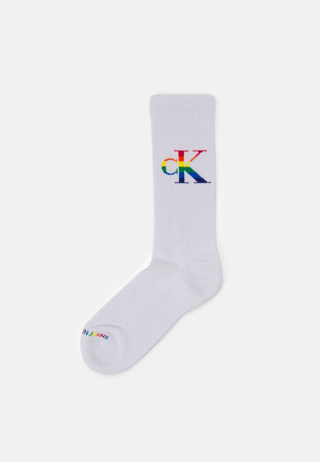 MENS PRIDE CREW ZANE - Socks - white