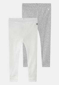 Petit Bateau - 2 PACK UNISEX - Leggings - Trousers - white/grey/multi coloured - 0