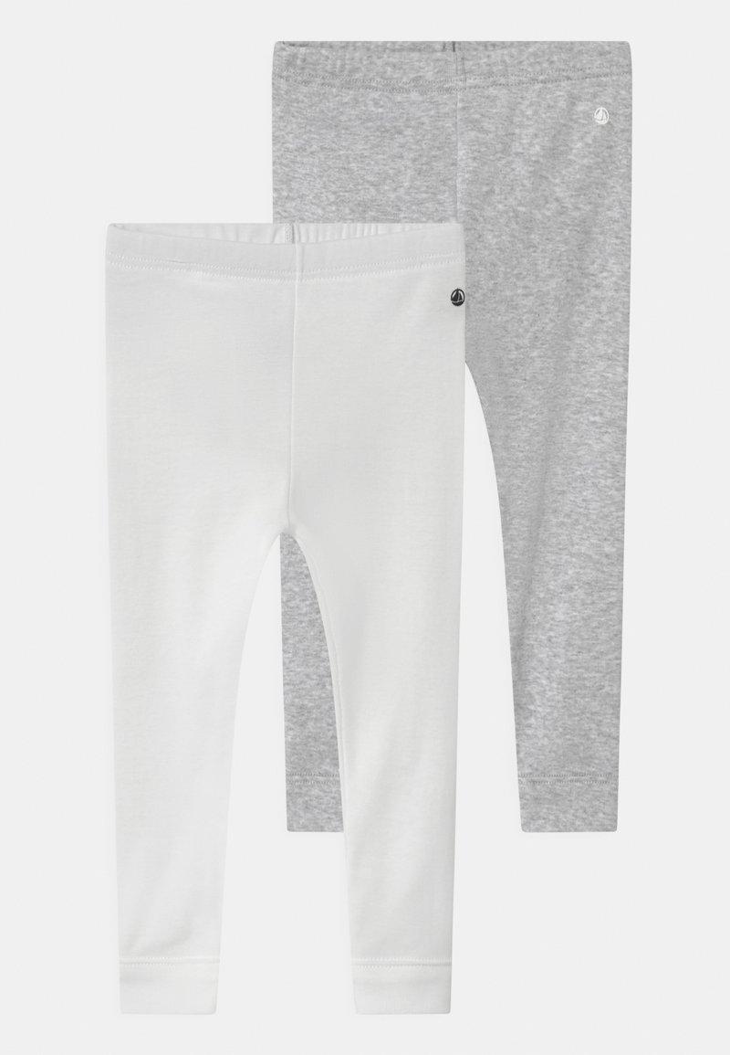 Petit Bateau - 2 PACK UNISEX - Leggings - Trousers - white/grey/multi coloured