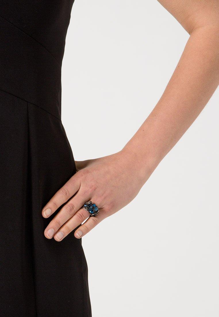 Konplott - Ring - blau/antiksilberfarben