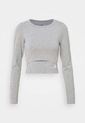 STRETCH CROP - Long sleeved top - grey melange