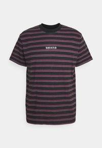 Afends - TAJ  STRIPE RETRO FIT TEE - T-shirt print - redwood - 0