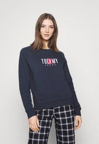 Tommy Jeans - TIMELESS BOX  - Mikina - twilight navy - 0