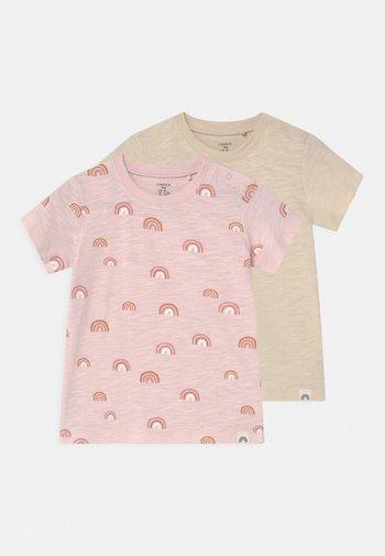 2 PACK RAINBOW UNISEX - Print T-shirt - light pink