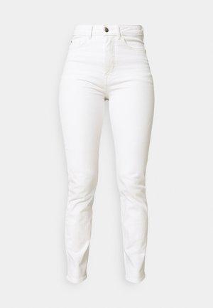 Straight leg jeans - white denim